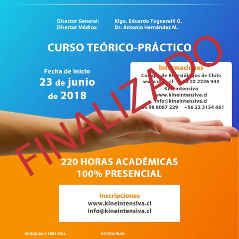 Inscripciones abiertas para el XXV Curso de Kinesiología Intensiva
