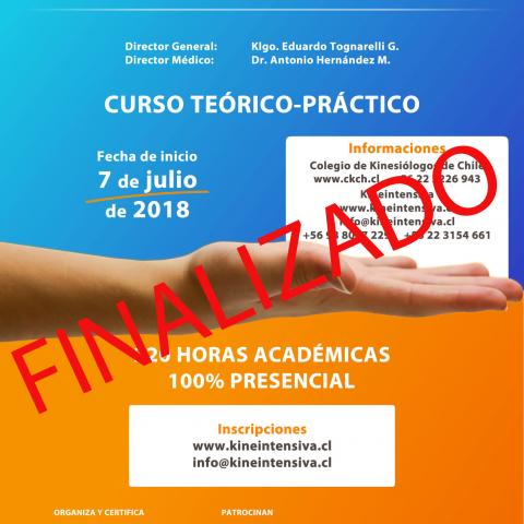 Nueva fecha de inicio XXV Curso de Kinesiología Intensiva