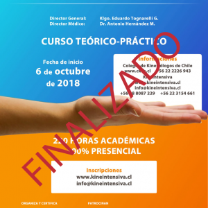 Inscripciones abiertas XXVI Curso de Kinesiología Intensiva